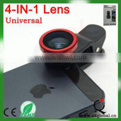 Camera Mobile Phone Accessories CPL Filter Lens 180 degree fisheye 0.67x wide angle lens 10x macro lens 4 in 1 clip lens