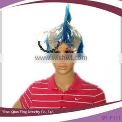 white and blue greece cheap football sports fans mohawk wig