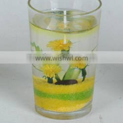 decorative champagne gel candles manufacture in China