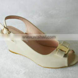 wedge lady shoes,simple style and comfortable heel shoes