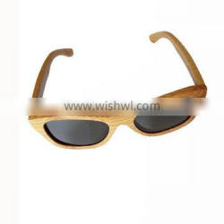 hot sale Outdoors Colourful Half Frame wood sunglasses With Polarized Lens