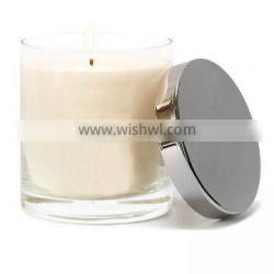 8oz candle holder/candle glass jar with metal lid for making candle