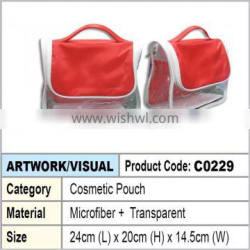 Microfiber Ladies Cosmetic Pouch