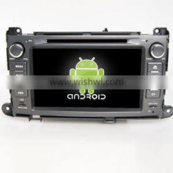 Quad core!car dvd with mirror link/DVR/TPMS/OBD2 for 8 inch touch screen quad core 4.4 Android system TOYOTA SIENNA