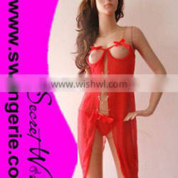 Sexy Babydoll Lingerie 8215-red