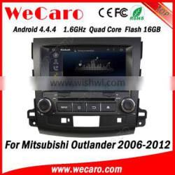 "Wecaro 8"" Android 4.4.4 car dvd in dash for mitsubishi outlander car stereo android mirror link 2006-2012"