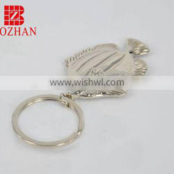 round blank keychain metal with your own logo for souvenir