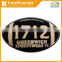 Baseball chenille patch, chenille patches for baseball sportswear, towel embroidery label for down jacket