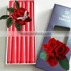 most popular taper candles in multi-color wax candles for lighting wholesale