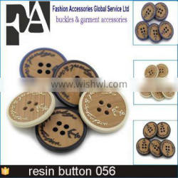 Custom Embossed Plastic Button For Clothing 4 hole