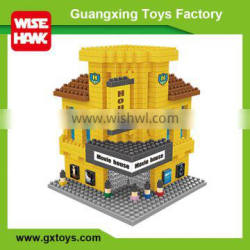 Wisehawk famous world architecture building block Hollywood Movie House toy model