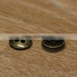 antique brass finish 2017 high quality metal button for coats