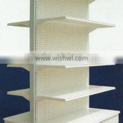 Double side with good quality supermarket metal store rack shelf factory direct sale