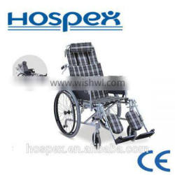 Reclining high backrest Aluminium wheelchair