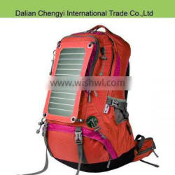 Factory price big capacity hiking camping solar chargeable backpack Quality Choice
