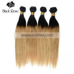 Black Rose Sew in Human Hair Weave Ombre Hair, 100% Ombre Human Braiding Hair Extensions