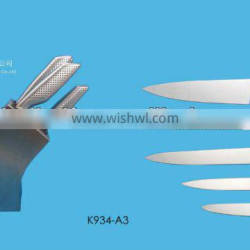 stainless steel handle kitchen knife set