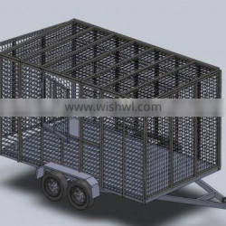 Powder coated galvanized Trash trailer