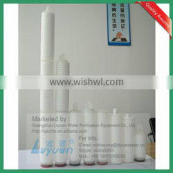 Pleated series 40 inch 0.1 micron polypropylene membrane filter cartridge supplier for industrial water treatment