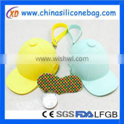 cap shaped silicone coin purse for promotional gifts