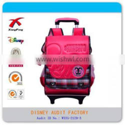 student school bag Mickey mouse trolley bag
