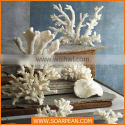 White resin fake coral animal sculpture indoor decoartion