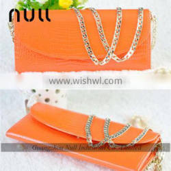 New model fashion elegant ladies purse with wallet chain