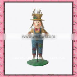wrought iron art Metal crafts Scarecrow Figurine