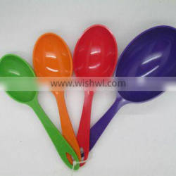 hot sale colorful 4pc plastic measuring spoon ,scoop set