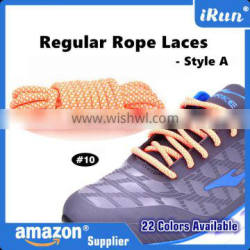 Neon Orange Air Yeezy Laces for Sports Shoes - Round Rope Boot Yeezy Rope Laces - Round Laecs 22 Colors - Amazon Supplier