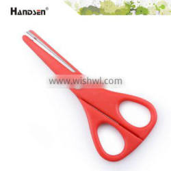 """5-1/4"""" plastic handle safety student scissors with cover"""