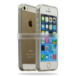 White transparent crystal phone cases shell for Apple iPhone 5/5S