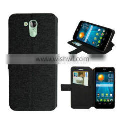 Black wallet leather case for Acer Liquid z500 case silk slim stand wallet leather high quality factory price