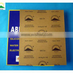 BP62 Waterproof Electro Coated Silicon Carbide Abrasive Paper