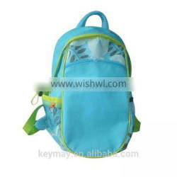 China Wholesale Fashion Hot Sale Girls School Blue Polyester Backpack