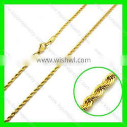 Best selling mens golden stainless steel jewelry necklace chain