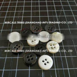 Resin sewing button