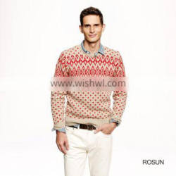 Mens Warm Wool Diamond Pattern Christmas sweater