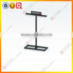 floor standing leather belt display rack in powder coated finish