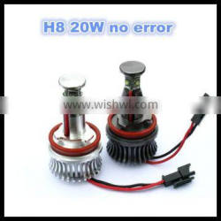 factory sales led angel eyes headlights bulb h8 20w with canceller no error free for bmw e82 e92 f01 f02