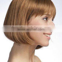 Blonde synthetic BOB Short hair style lace wigs