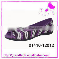 2014 new design ladies leather court shoes