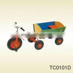 Green Kid's Toy Tricycle with trailer TC0101D