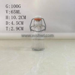 65ml 2oz cooking oil glass bottle with swing top lid