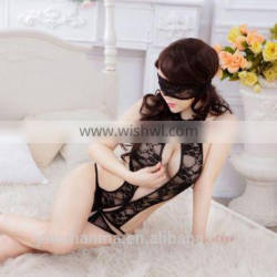 Adult sexy nude black teddy lingerie g-string lady