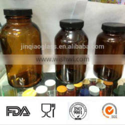 Hot sell amber glass essential oil bottle with cap