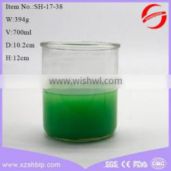 wholesale high practicability 700ml glass candle jars shaped round