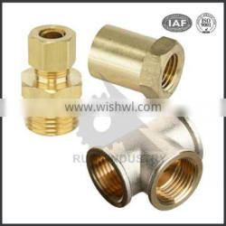 China OEM manufacturer machining industrial brass fitting