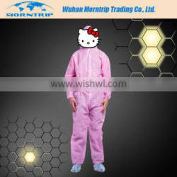 Disposable Non Woven Pink Work Coverall
