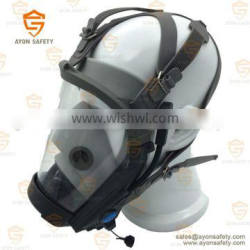 EN 136 approval antigas face mask with wireless talking system using for military civil defence industrial chemical fields